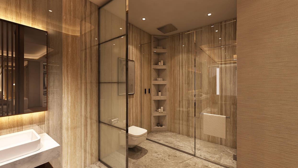 Suite Penthouse Geneva: Casas de banho  por Alpha Details,Clássico