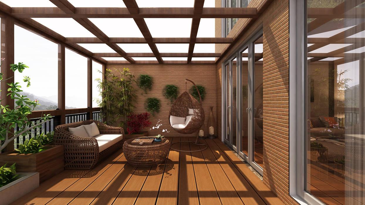 Balcón de estilo  por Alpha Details, Moderno