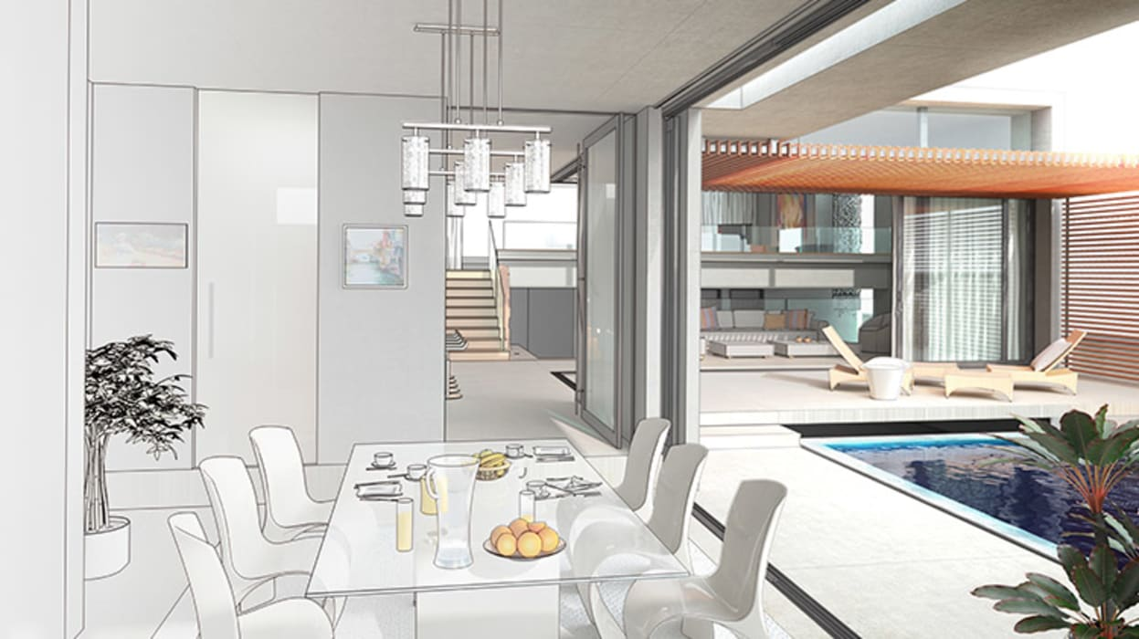 Home Staging Virtual Comedores de estilo moderno de Arkiline Arquitectura Optativa Moderno Madera Acabado en madera