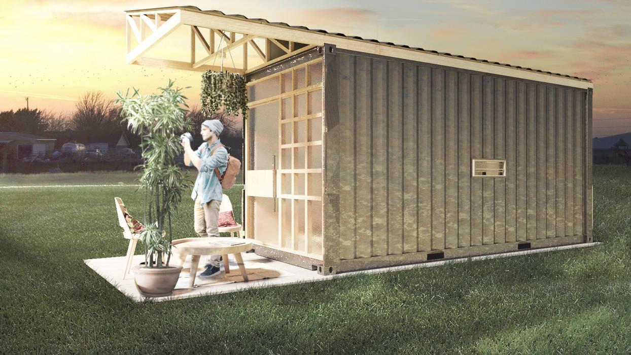 Vista: Casas prefabricadas de estilo  por Alexander Chivico, Industrial Hierro/Acero