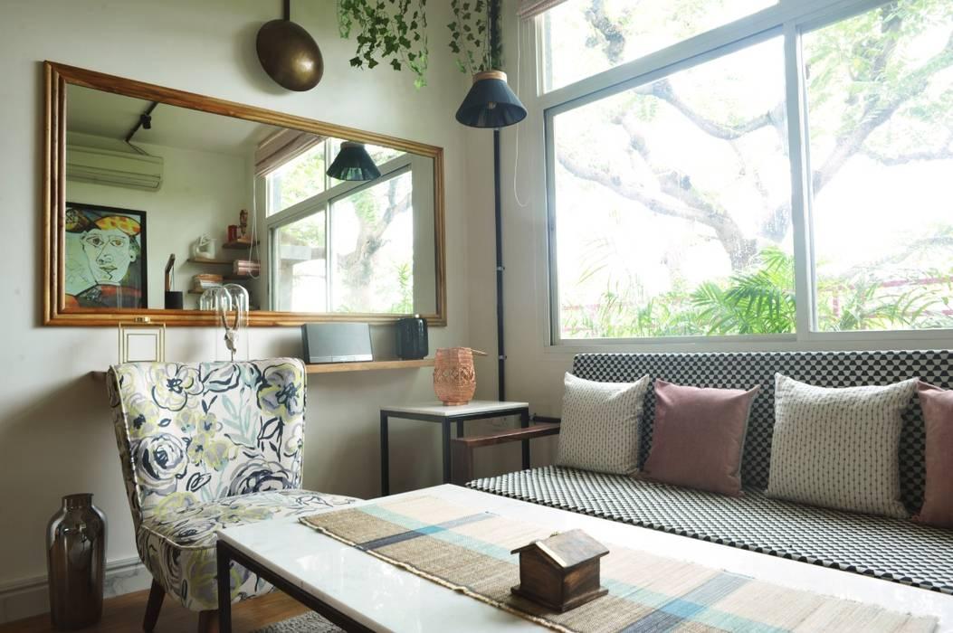 flamingo architects Modern Living Room