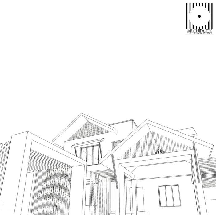 ARCHIDUEX-THE DESIGN STUDIOが手掛けたリゾートハウス, トロピカル 鉄/鋼