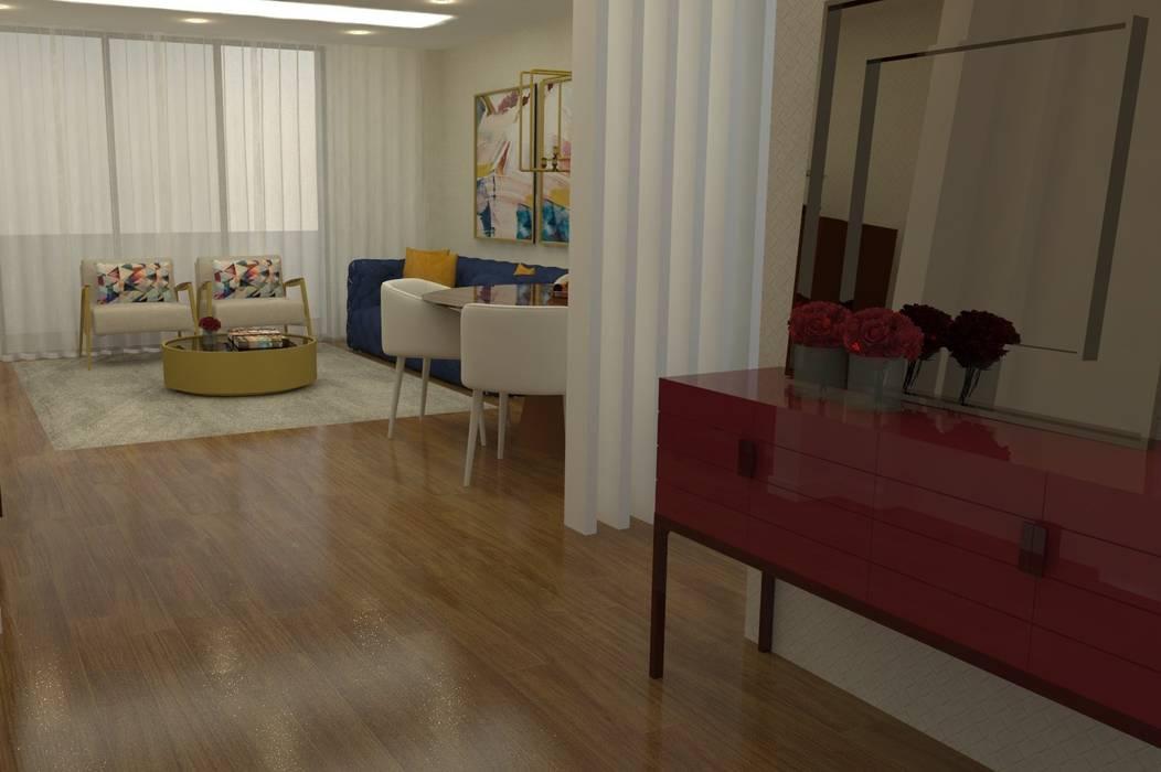 Um hall de entrada minimalista: Corredores e halls de entrada  por Casactiva Interiores,Moderno
