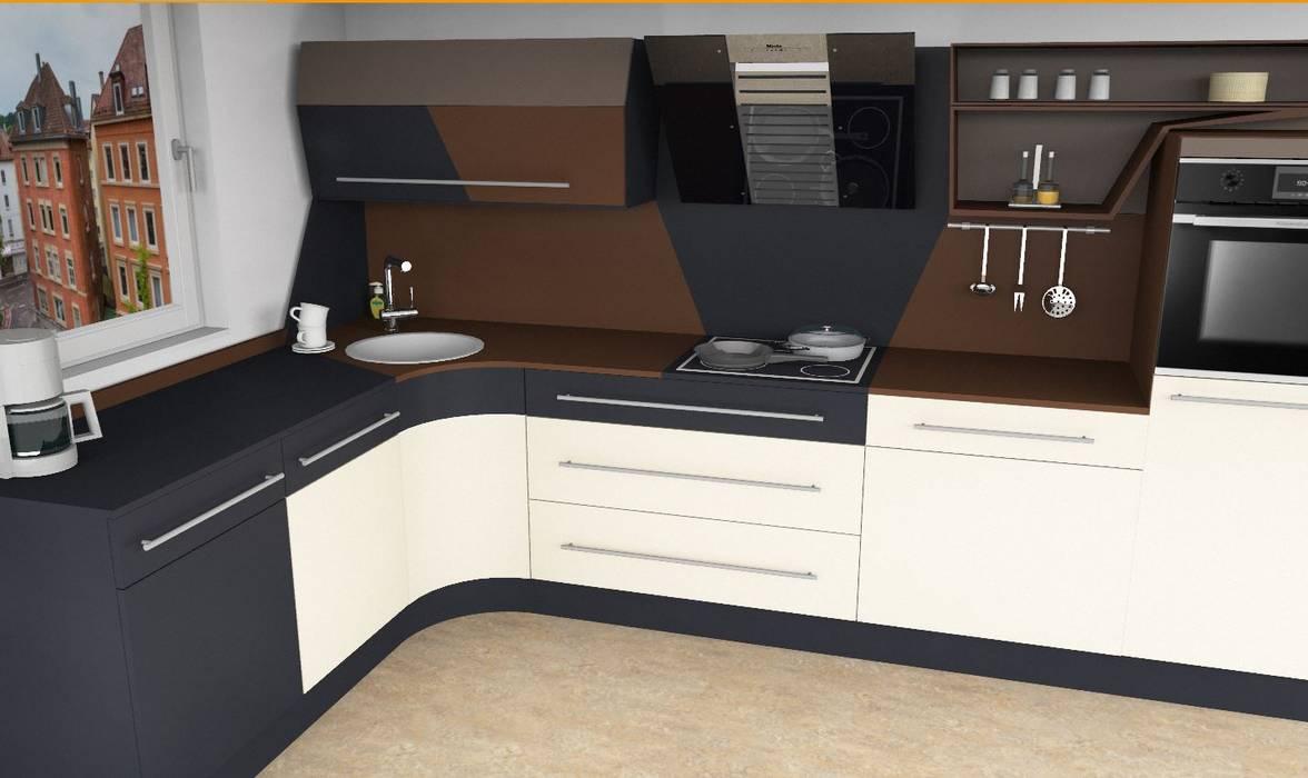 Küche in l-form von higloss-design.de - ihr küchenhersteller ...