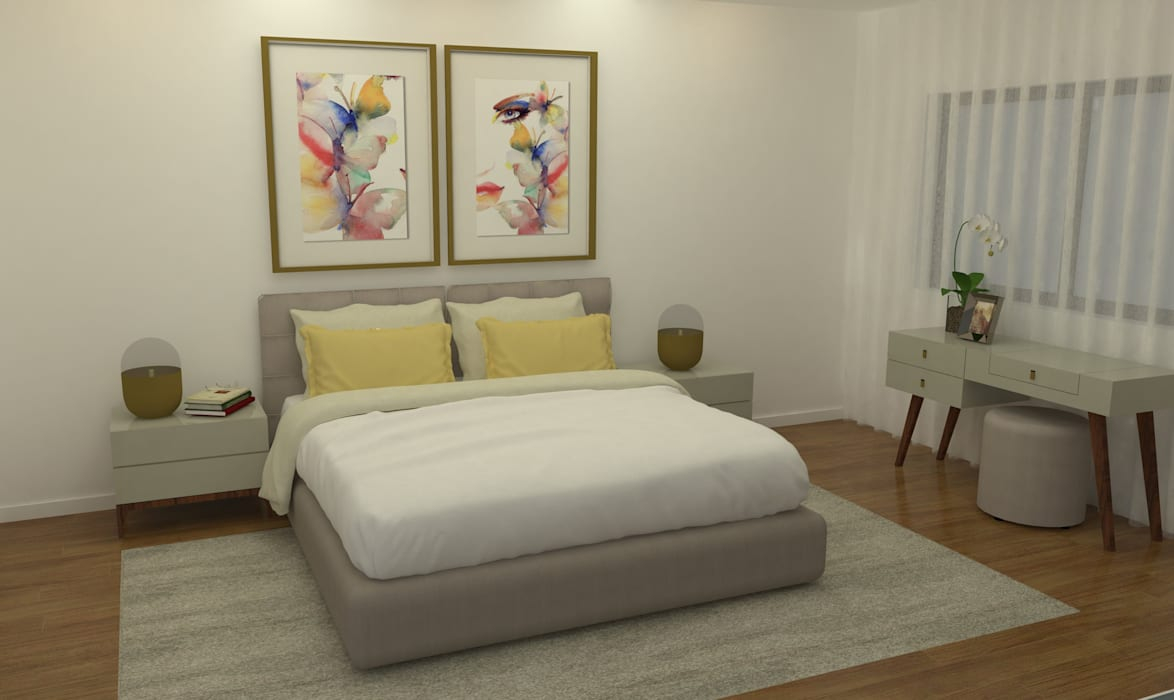 Quarto suite: Uma decoração intemporal: Quartos  por Casactiva Interiores,Moderno