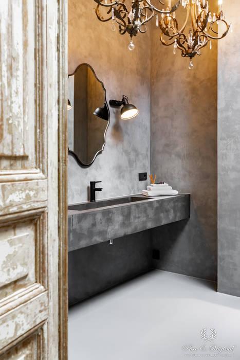 Oyster Grey Marrakech Walls Industriële badkamers van Pure & Original Industrieel
