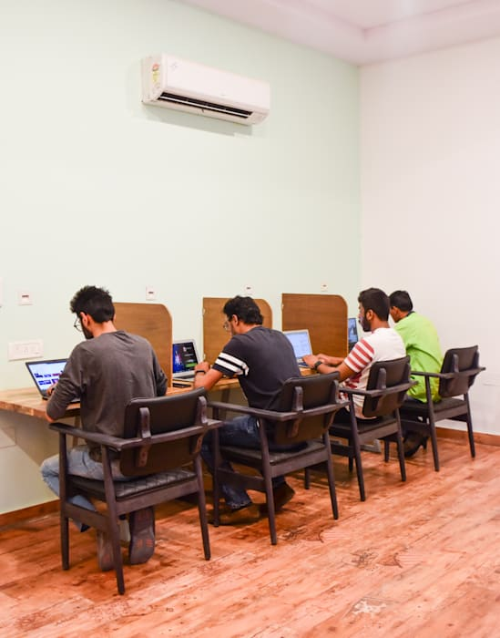 Co work space Tropical style study/office by Designs by Sunakshi Tropical