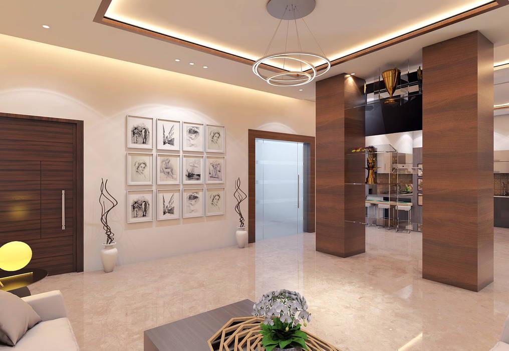 Gurugram Residential Modern walls & floors by Petals Art Decor Modern