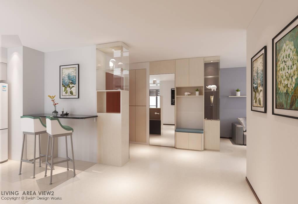 Foyer Modern corridor, hallway & stairs by Swish Design Works Modern Plywood