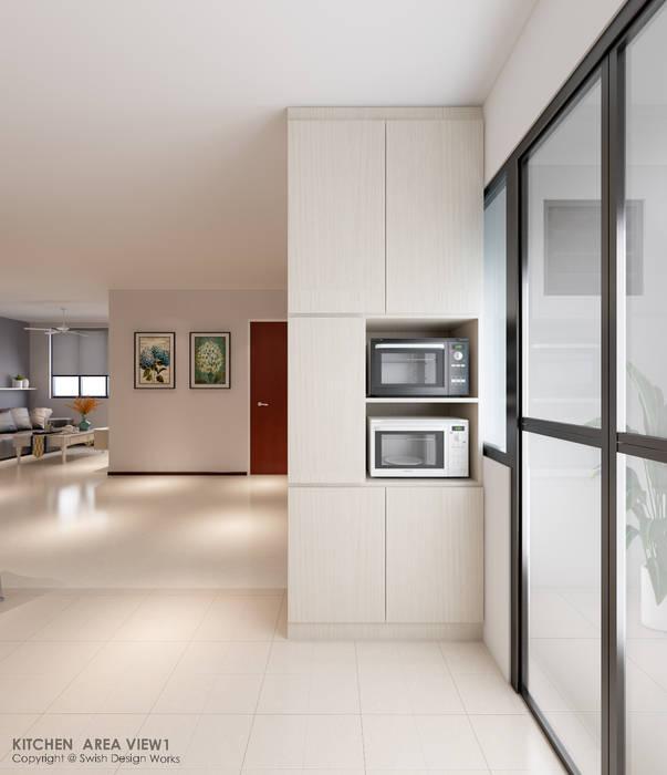 Kitchen tall unit 現代廚房設計點子、靈感&圖片 根據 Swish Design Works 現代風 合板