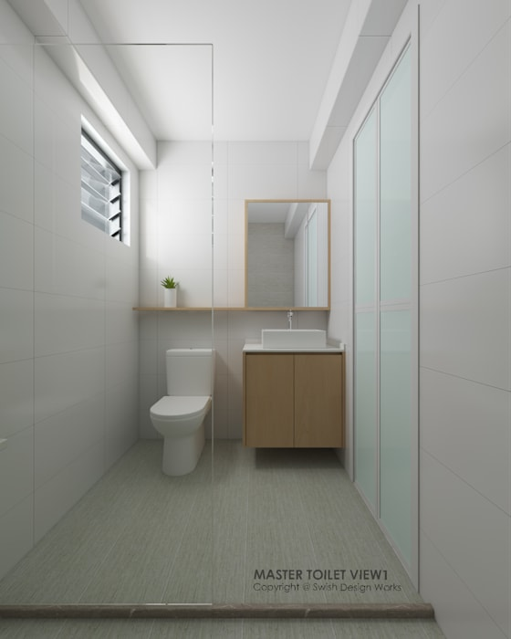 Bathroom Modern bathroom by Swish Design Works Modern