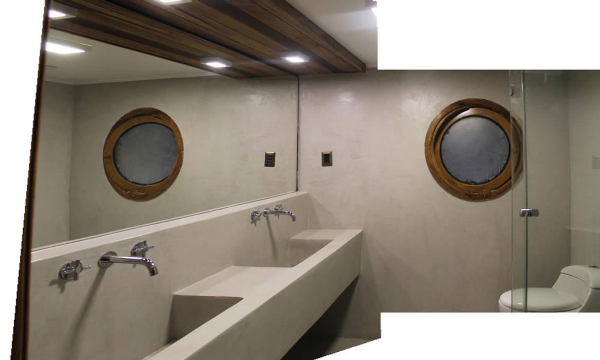 LAVAMANOS HORMIGON: Baños de estilo  por Vetas Sur, Minimalista Concreto