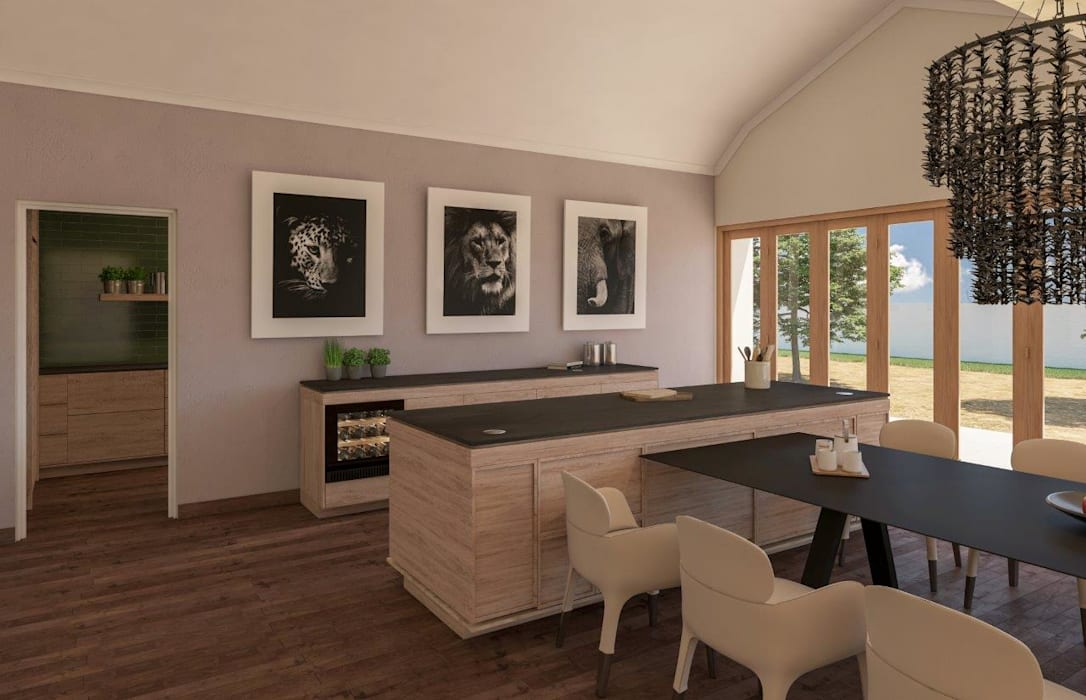 Dining room Modern kitchen by Deborah Garth Interior Design International (Pty)Ltd Modern
