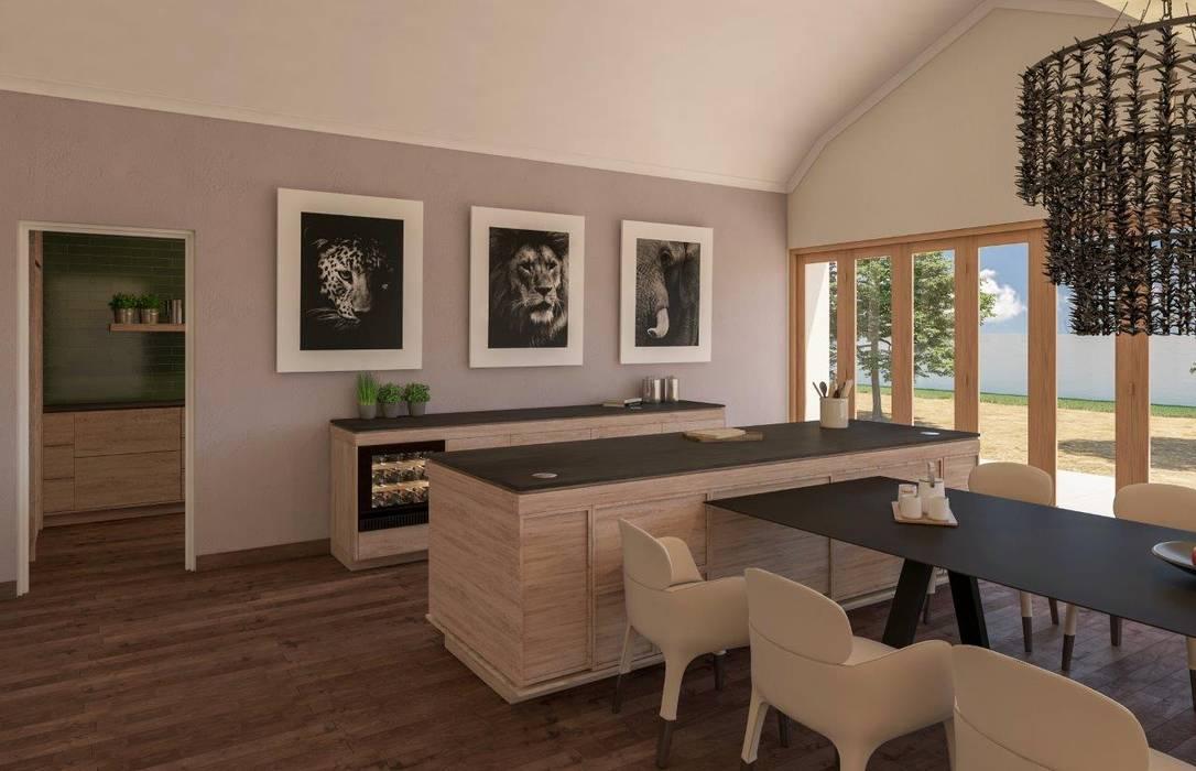 Dining room:  Kitchen by Deborah Garth Interior Design International (Pty)Ltd,