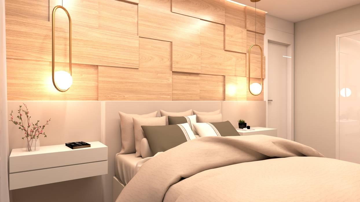Quarto de Casal: Quartos  por STUDIO KANDO,Moderno Madeira Efeito de madeira