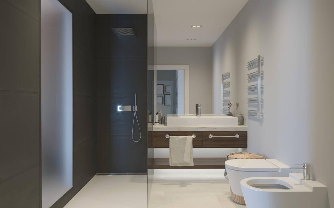 Baño principal Baños de estilo moderno de INARQ Espacio Moderno