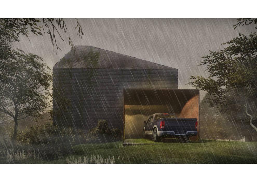Casa CL - Fachada 02 Casas estilo moderno: ideas, arquitectura e imágenes de Zenobia Architecture Moderno