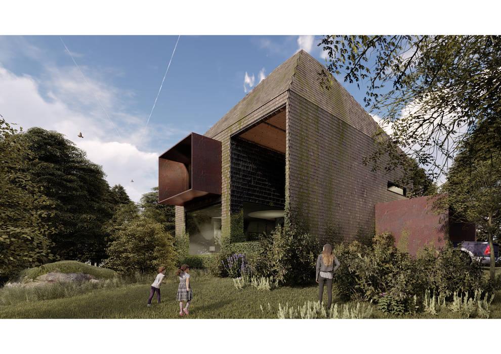Casa CL - Fachada 04 Casas estilo moderno: ideas, arquitectura e imágenes de Zenobia Architecture Moderno