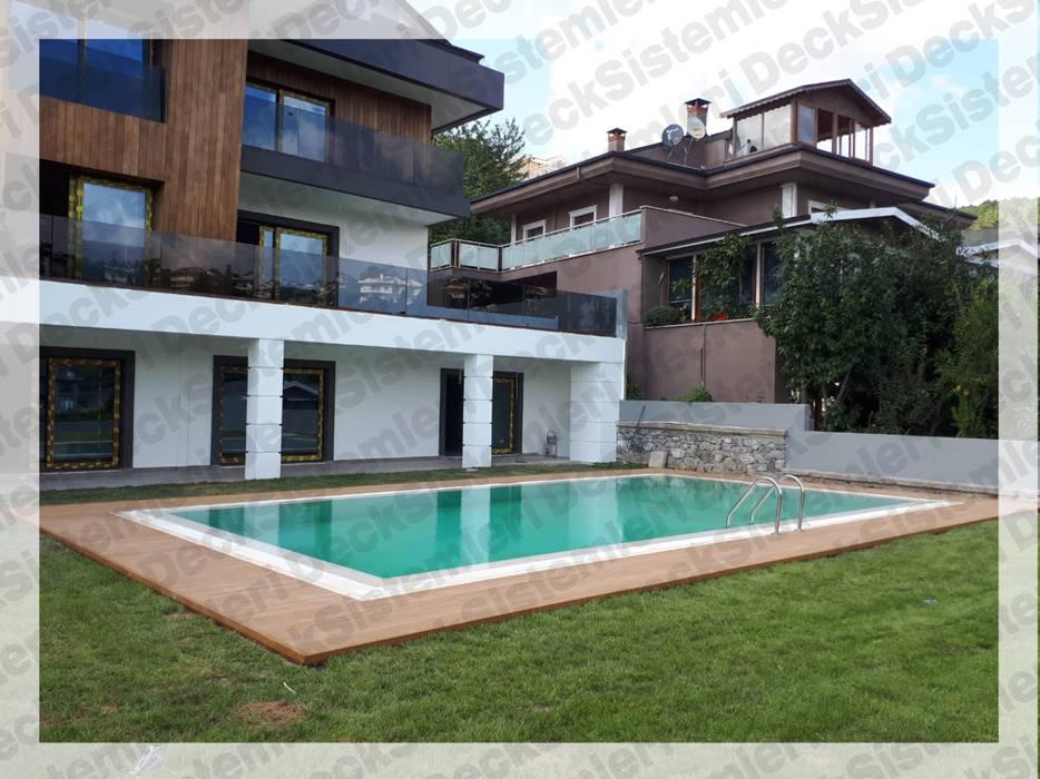 Deck Sistemleri – Havuz Kenarı l Bahçe l Balkon l Teras :  tarz Havuz, Modern Ahşap-Plastik Kompozit
