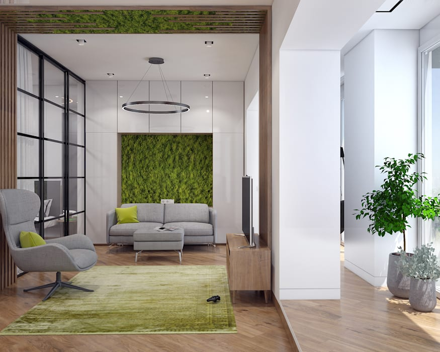 Living room by «Студия 3.14», Industrial