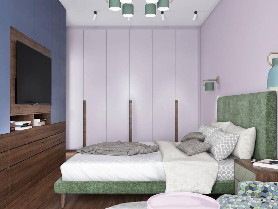 Dormitorios de estilo  por «Студия 3.14», Rural