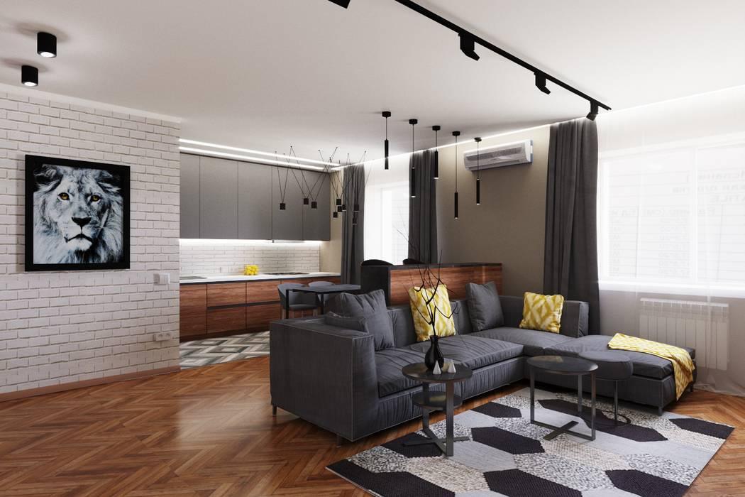 Living room by GruzdArt, Industrial