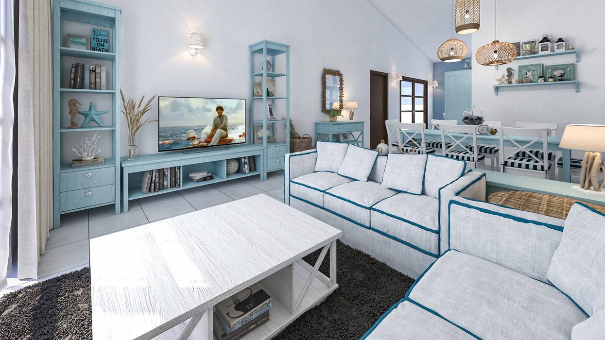 Arredo casa al mare in brasile soggiorno in stile ...