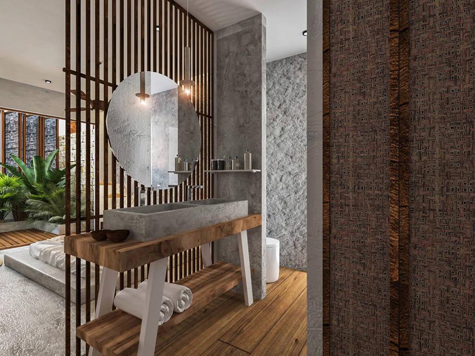 V ALIVE: Baños de estilo  por NATALIA MENACHE ARQUITECTURA, Moderno