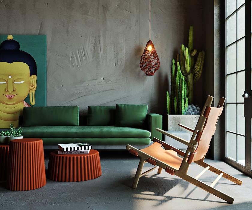 Living room by Entalcev Konstantin, Rustic