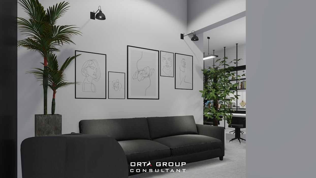 longe sofa: Ruang Kerja oleh ORTA GROUP,
