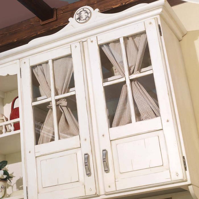Pensile cucina in vero legno di mobili a colori classico ...