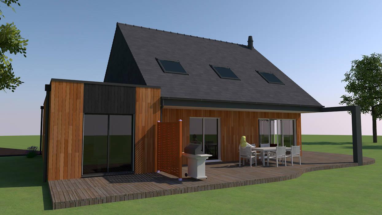 Casas unifamiliares de estilo  por KER I.M.M.O., Clásico Madera Acabado en madera