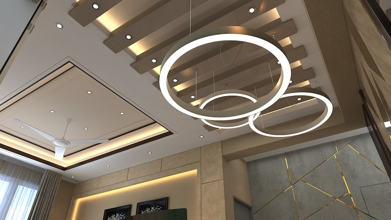 False ceiling design modern dining room by manglam decor ...
