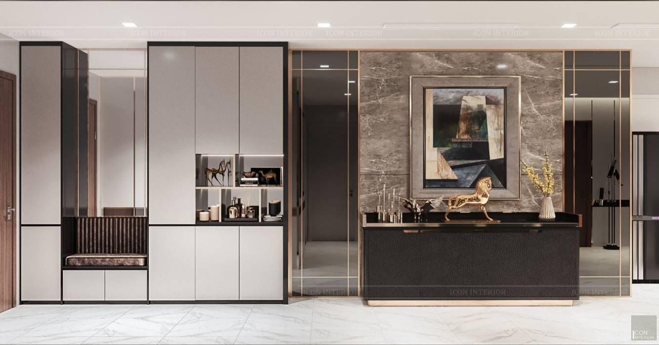 Quy luật tương phản trong thiết kế nội thất căn hộ Vinhomes Central Park bởi ICON INTERIOR Hiện đại