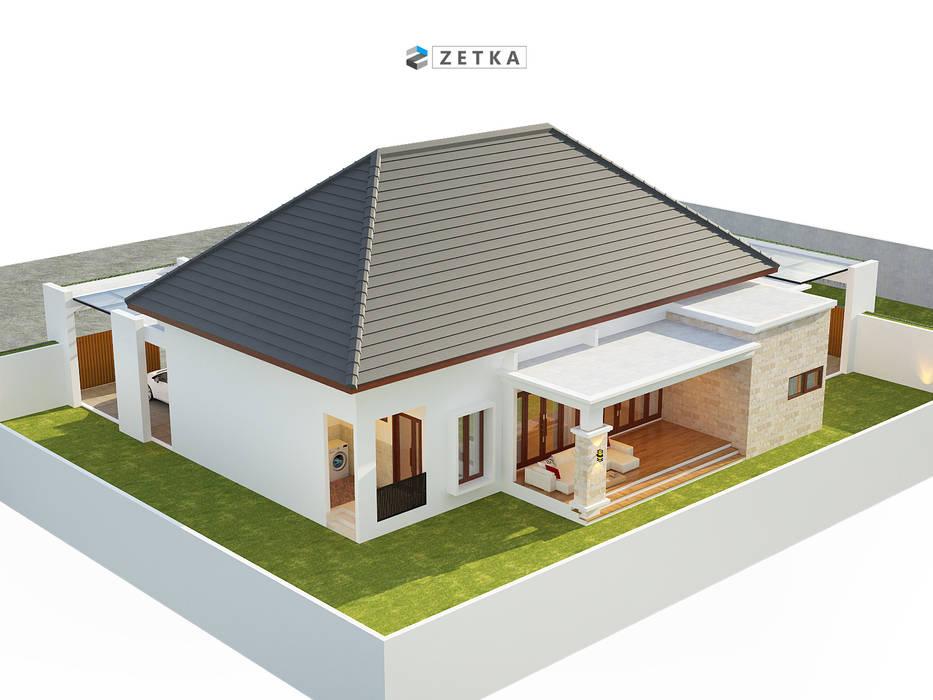 "GRIYA ANJAS "" PALANGKARAYA"": Rumah tinggal  oleh zetka arsitek, Minimalis Kayu Wood effect"