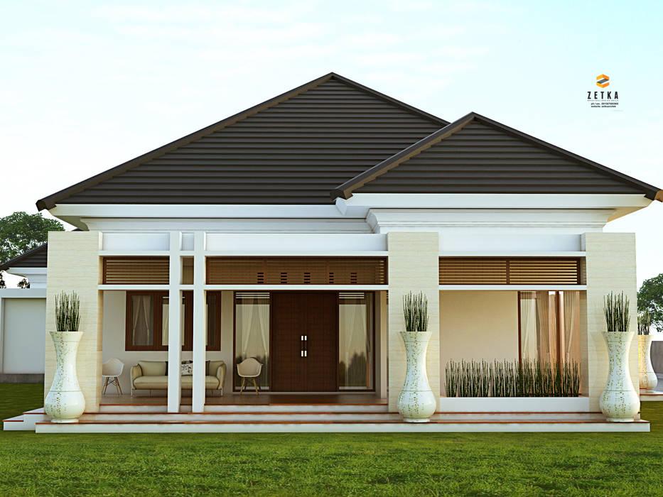 "AMAT MITRA HOUSE "" PANGKALANBUN "": Rumah tinggal  oleh zetka arsitek, Minimalis Kaca"
