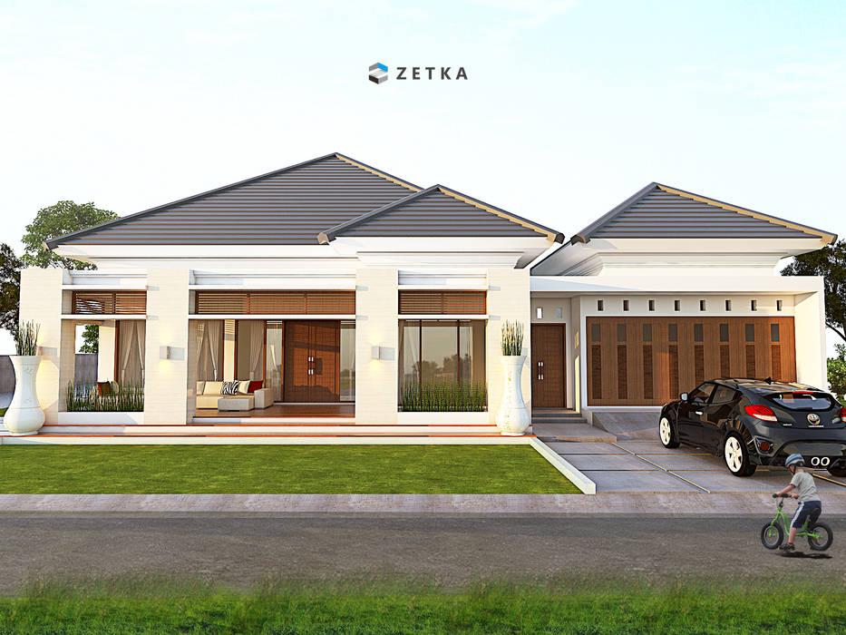 """AMAT MITRA HOUSE """" PANGKALANBUN """": Rumah tinggal  oleh zetka arsitek, Minimalis Batu Bata"""