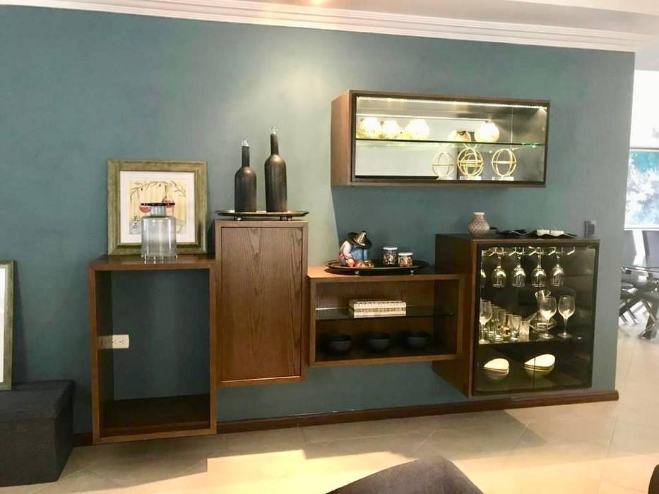 Modern Home Wine Cellar by Portarossa Modern Engineered Wood Transparent