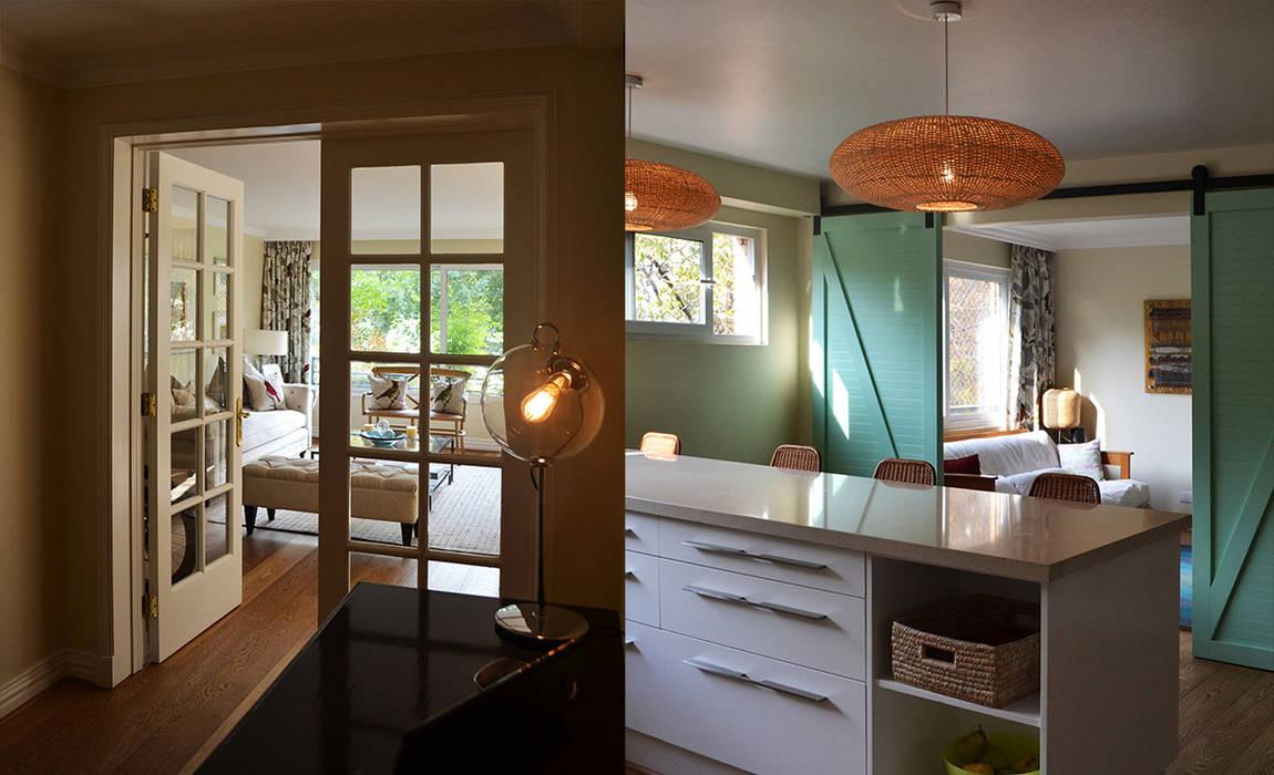 Remodelación departamento : Cocinas equipadas de estilo  por CONSTRUCTORA DHTC LIMITADA, Ecléctico Madera maciza Multicolor