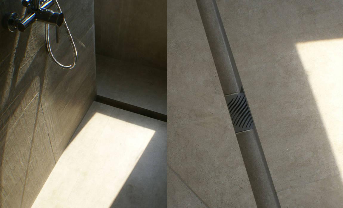 Detalle de la ducha: Baños de estilo  por CONSTRUCTORA DHTC LIMITADA, Minimalista Cerámico