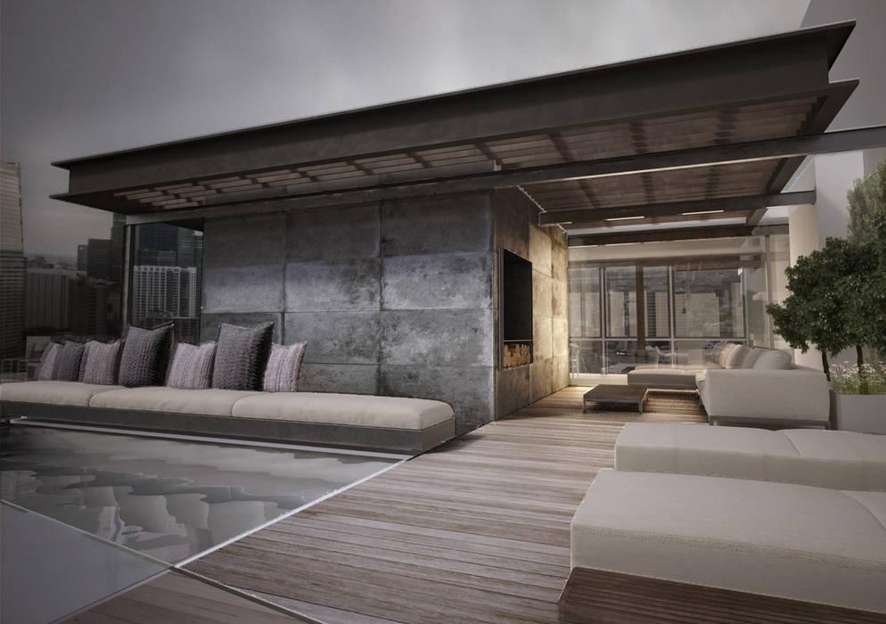 Balkon, Beranda & Teras Modern Oleh T + T arquitectos Modern