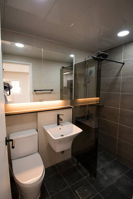 Baños de estilo moderno de AAG architecten Moderno Azulejos