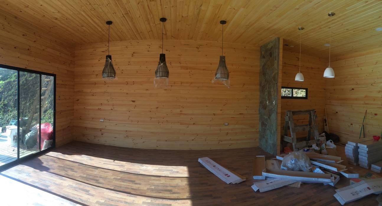 Interior Living-Comedor: Casas de estilo  por Loberia Arquitectura,