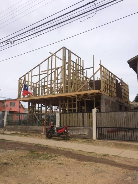 Entramado Fachada Principal: Casas de estilo  por Loberia Arquitectura,