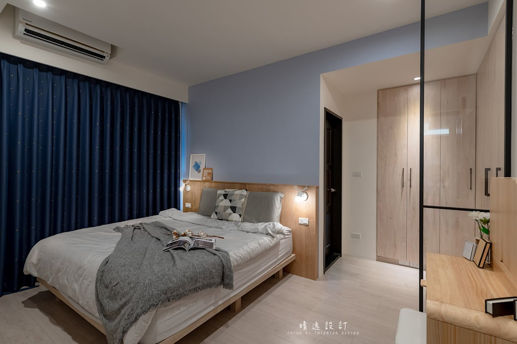 Small bedroom by MSBT 幔室布緹, Mediterranean Wood-Plastic Composite