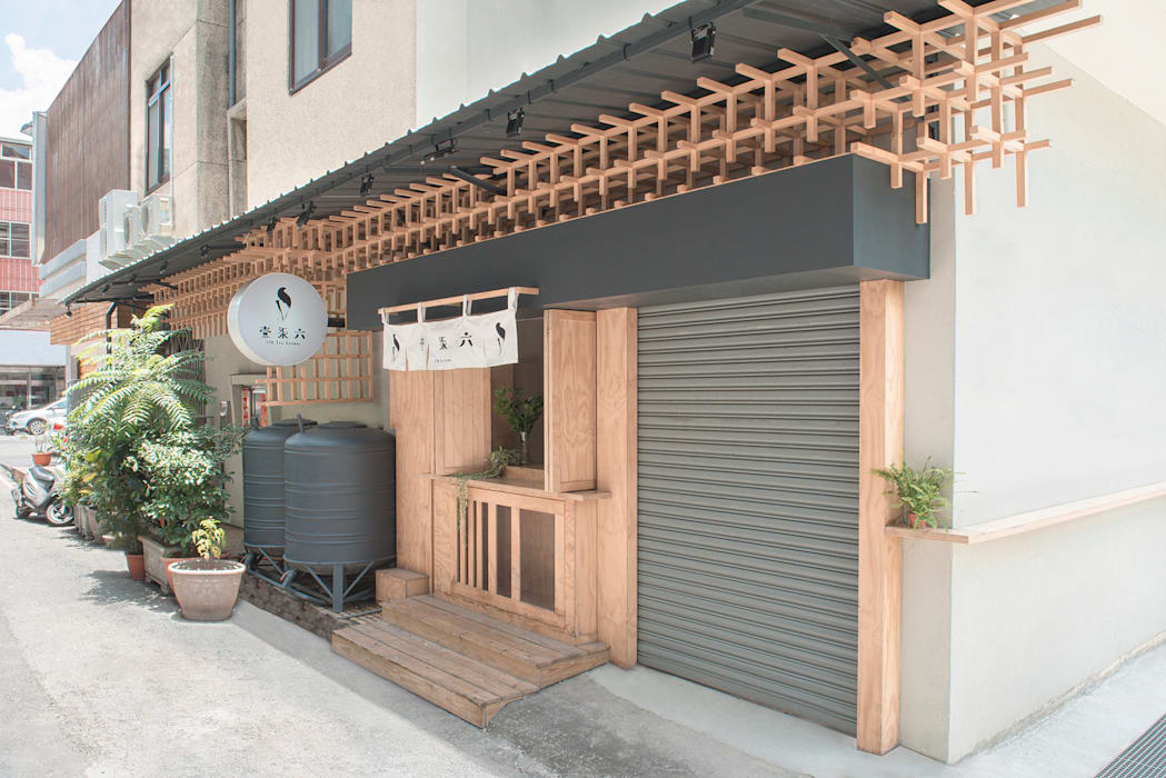 壹柒六の氷:  餐廳 by 漢玥室內設計, 日式風、東方風 木頭 Wood effect