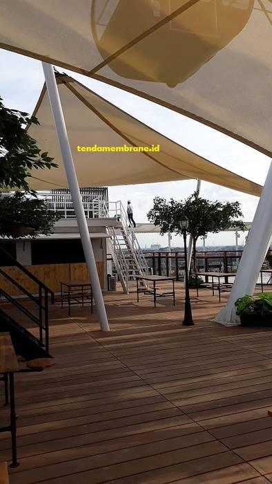 tenda shading area Bianglala, AEON Mall, Cakung Pusat Perbelanjaan Tropis Oleh Fortuna Jaya Kreasi Tropis Plastik