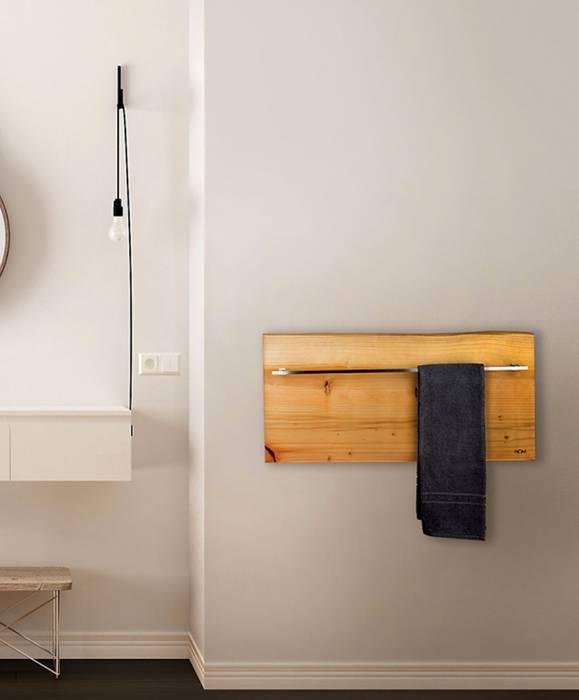 Horizontaler zedernholz heizkörper xilo moderne badezimmer ...
