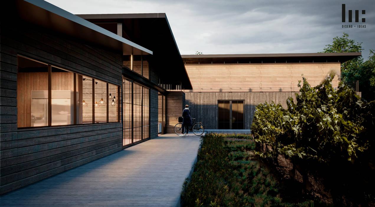 Cava & Restaurante Bares y clubs de estilo minimalista de HC Arquitecto Minimalista Madera Acabado en madera