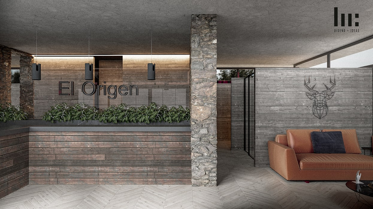 Recepción - Interior Hoteles de estilo minimalista de HC Arquitecto Minimalista Concreto